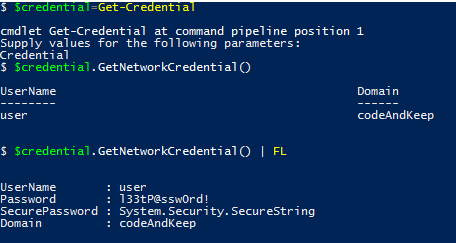 Using Passwords in PowerShell – CodeAndKeep Com – Code and keep calm